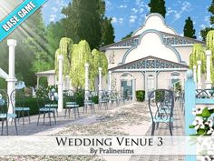 This is a cute and beautiful wedding place for your simmies!  Found in TSR Category 'Sims 3 Community Lots'
