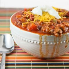 Somebody told me recently that they had searched for a standard chili  recipe on my website and couldn't find one. Whoa...WHAT?! I cannot believe  I haven't shared this recipe until now! It's a tragic oversight and I hope  you will find it in your chili-loving heart to forgive me.