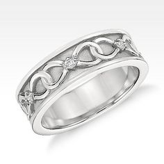Colin Cowie Diamond Infinity Wedding Ring in Platinum (7mm)