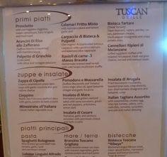 tuscan grill menu - Google Search
