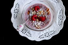 Raw Raspberry + Vanilla Chia Seed Pudding by thefirstmess