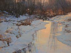 "Evening's Final Glow by Barbara Jaenicke Oil ~ 18"" x 24"""