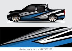 Similar Images, Stock Photos & Vectors of Sport racing car wrap decal and sticker livery design. Custom Paint Jobs, Custom Cars, Truck Decals, Sports Car Racing, Trucks, Car Painting, Car Wrap, Vector Background, Car Stickers