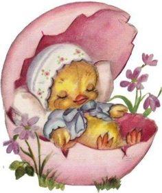 Easter Art, Easter Crafts, Easter Bunny, Vintage Valentines, Vintage Holiday, Decoupage, Easter Pictures, Easter Parade, Easter Printables
