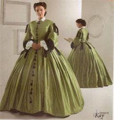 NEW Simplicity 2887 Civil War Dress/Gown SEWING PATTERN | eBay