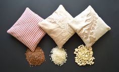 Organic Fillers For Warming Pads: Rice, Corn and Flaxseed Compared Diy Xmas Gifts, Homemade Christmas Gifts, Homemade Gifts, Craft Gifts, Homemade Heating Pad, Diy Heating Pad, Heating Pads, Corn Bags, Rice Bags