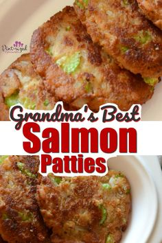 Grandma's best salmon patties are one of my favorite family recipes that my grandmother made regularly. You'll love the spices and the perfect crunch that makes these salmon croquettes an amazing comfort food recipe! Best Salmon Patties, Fried Salmon Patties, Salmon Patties Recipe, Salmon Burgers, Salmon Patties With Crackers, Canned Salmon Patties, Southern Salmon Patties, All Family, Family Meals