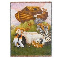 Noah's Ark Baby Blanket