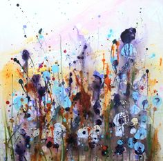 Summer Blooms — Rine Philbin Art Watercolour, oils and acrylic paintings Acrylic Material, Summer Breeze, Conceptual Art, Spring Colors, Watercolor Art, Saatchi Art, Original Paintings, Canvas Art, Bloom
