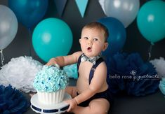 Boys first birthday outfit baby boy smash cake by ShopLilSquirts