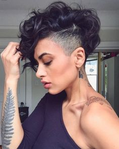 The best collection of Great Curly Pixie Hair, Pixie cuts, Latest and short curly pixie haircuts, Curly pixie cuts pixie hair Curly Pixie Haircuts, Curly Pixie Cuts, Short Hair Undercut, Curly Short, Side Undercut, Curly Pixie Hairstyles, Undercut Women, Pixie Mohawk, Shaved Side Hairstyles