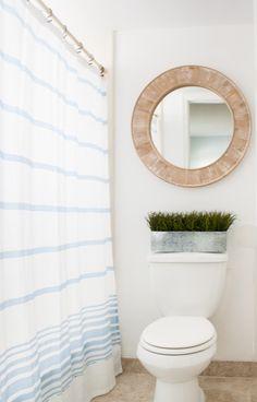 Beach Condo Coastal Decor - Master Bedroom and Bath - The Lilypad Cottage