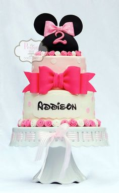 Ribbon Rose Minnie- love that they used the Disney font for the name