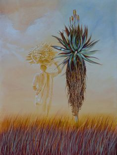 Gallery - South African Art by Jacques Blue Flower Wallpaper, Africa Art, Africa Painting, African Tattoo, Plant Painting, South African Artists, Art Sites, Encaustic Art, African American Art