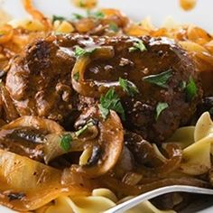 Swap out the butter for Granny's Good Ol' Fashion Bacon Drippings.  The gravy will be awesome! Salisbury Steak Recipe - CenterCutCook & ZipList