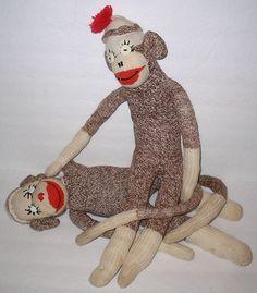 Vintage Sock Monkey, Handmade 20