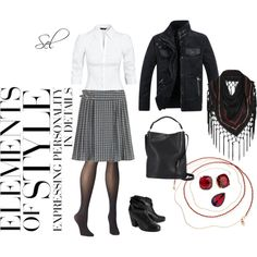 B & W by selenitabr on Polyvore