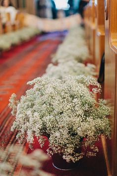 Church Wedding Baby's Breath Aisle Decor, flower wedding decor ideas #2014 #ideas #Easter #Craft #food #home decor
