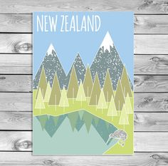 Sind Sie auf der Suche nach einem einzigartigen Poster von neuseeland? Als Erinnerung an meine Reise in neuseeland begann ich, im Stil von