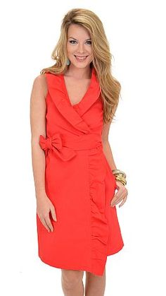 Missy Robertson Wrap Dress, Red :: NEW ARRIVALS :: The Blue Door Boutique