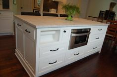 microwave drawer and paper towel holder