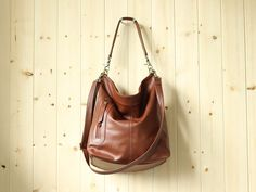 Large shoulder bag, large crossbody bag, leather purse, leather duffle bag - MAX II by Adeleshop on Etsy