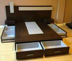 trendy bedroom storage built in drawers Bedroom Cupboard Designs, Wardrobe Design Bedroom, Room Design Bedroom, Bedroom Furniture Design, Modern Bedroom Design, Home Room Design, Bed Furniture, Home Decor Furniture, Bed Designs With Storage