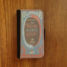Wallet / Book style cell phone flip case smart phone case - The never ending story book cover