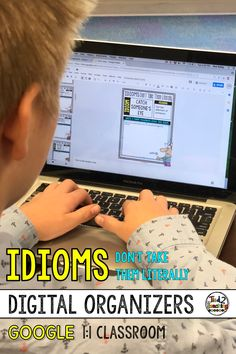 Are you introducing idioms to your students? Helping students organize their learning about different idioms and their meanings can sometimes be a challenge. Use these fun and engaging DIGITAL IDIOMS ORGANIZERS to help gather, organize, and record their learning about 35 common idioms!