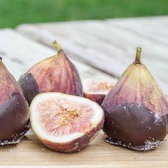 Dark Chocolate Dipped Figs with Sea Salt