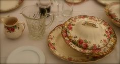 mum's antique china sets got used instead of hiring plates