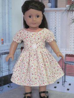 Flower Dress for American Girl Dolls by Sewgoesit on Etsy, $20.00