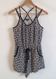 terry black and white romper $ 19.00 www.euphoriafashionshop.com