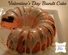 Strawberry Brownie Valentine's Day Bundt Cake...PEOPLE ARE SO DARN CREATIVE!!!  I see @Pink Stamper making this for her kiddos!!
