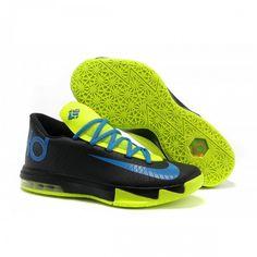 650a25030367 Cheap hor sale Nike KD VI (6) Black-Royal Blue Electric Green Kobe