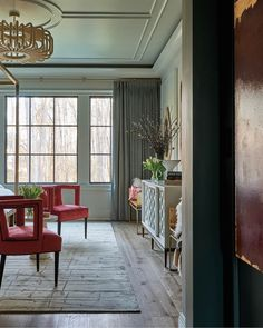 Vintage vibes, courtesy of Kathryn Lilly Interiors — from the Interior Design Society Charlotte Designer Showhouse. Get the look at theshadestore.com. Photo: Dustin Peck #LoveYourWindows #idscharlotteshowhouse Drapery, Curtains, Vintage Vibes, Window Treatments, Blinds, Swatch, Master Bedroom, This Is Us, Hardware