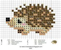 Cross me not tiny cross stitch hedgehog