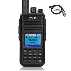 TYT MD-UV380 Dual Band Dual Time Slot DMR with GPS, VHF/UHF Portable Handheld Radio with 3000 Channels 100000 Contacts, with Free Programming Cable and Acoustic Tube Earpiece, 2019 New Version * More info could be found at the image url. (This is an affiliate link)