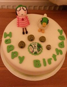 Sarah & Duck and the shallots! CBeebies-themed birthday cake - perfect for your little one's birthdays and celebrations.