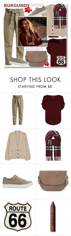 """""""Mini Bags"""" by ucetmal-1 ❤ liked on Polyvore featuring Polo Ralph Lauren, Elizabeth and James, Burberry, TOMS, Sole Society, tarte, pants, polyvoreeditorial and minibags"""