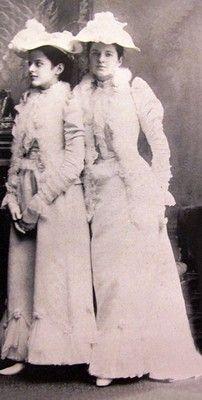 First cousins of Consuelo Vanderbilt, Adele and Emily Vanderbilt Sloane, daughters of Mr. & Mrs. Wm. D. Sloane (Emily Thorn Vanderbilt). He a partner in the venerable interior design and furniture company W & J Sloane.