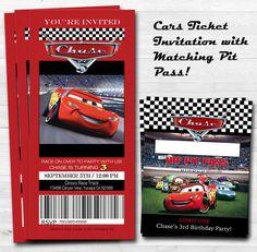 Invitación de la fiesta de Disney Cars