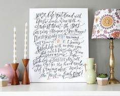 A modern hand-lettering pioneer, Lindsay Letters Studio offers foil ART PRINTS and heirloom-quality CANVASES with meaningful phrases and abstract art. Ecclesiastes 9, Lindsay Letters, Framed Art Prints, Canvas Prints, Foil Art, Subtle Textures, Diy Canvas, Canvas Ideas, Letter Art