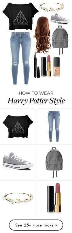 """""""Untitled #15"""" by rs1111 on Polyvore featuring Frame Denim, Cult Gaia, Marc Jacobs, Chanel, NARS Cosmetics and Converse"""