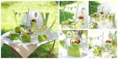 Creabox sweet table etiquettes, toppers, wrappers , fanions, mini cakestand, pailles et paper pompom
