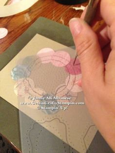 Paper Piercing makes it easy to 'fake stitch' a card #paperpiercing #cardmaking
