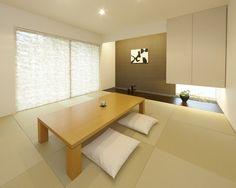 和室|注文住宅のアキュラホーム Modern Japanese Interior, Japanese Modern House, Modern Japanese Architecture, Japanese Home Decor, Japanese Design, Interior Design Living Room, Modern Interior Design, Tatami Room, Living Etc