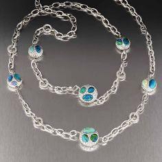 Margot McKinney Jewelry Hearts Desire Topaz & Sapphire Necklace with Diamonds in 18K Gold xGDkXIIv