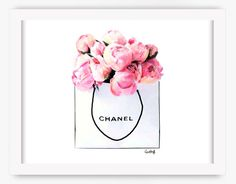 Chanel Roses Print | Fashion Illustration, CC Drawing, Flower Art, Watercolor…