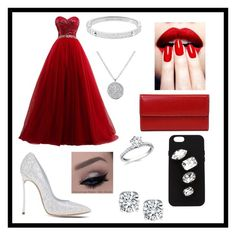 """Red, white and black ballroom outfit"" by duckylovesshop ❤ liked on Polyvore featuring Casadei, Dolce&Gabbana, Michael Kors, Lodis and STELLA McCARTNEY"
